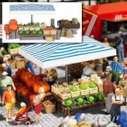 H0 Marktstand Gemüse