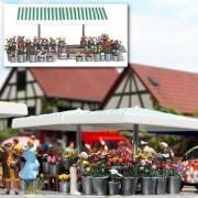 H0 Marktstand Blumen