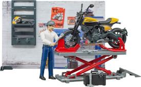 Bruder 62102 bworld Motorradwerkstatt ScramblerDucati
