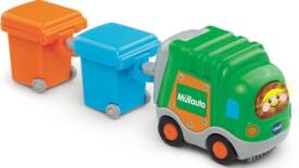 Vtech 80-187764 Tut Tut Baby Flitzer - Müllauto und 2 Mülleimer, ab 12 Monate - 5 Jahre, Kunststoff, Mehrfarbig