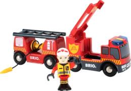 BRIO 63381100 FeuerwehrLeiterfahrzeug Licht&Sound