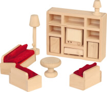 Beluga Spielwaren Puppenhausmöbel Wohnzimmer, 11 teilig
