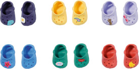 Zapf BABY born Holiday Schuhe m Pins 43 cm