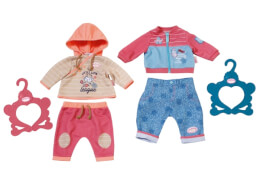 Zapf 701430 Baby Annabell Outfit Boy&Girl 2sort 43cm