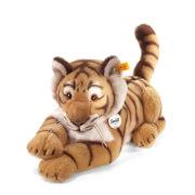 Steiff Radjah Tiger, blond gestreift, liegend, 45 cm