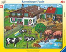Ravensburger 066186  Rahmenpuzzle Tierfamilien 33 Teile