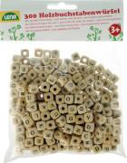 Holz Buchstabenwürfelperlen 300-teilig