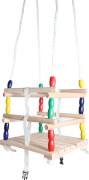 SpielMaus Outdoor Gitterschaukel Holz, 30x30 cm, ab 12 Monaten
