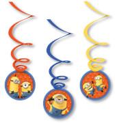 6 Deko-Spiralen Minions