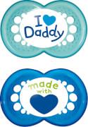 MAM Original Silikon I love Daddy 6-16 Monate boy